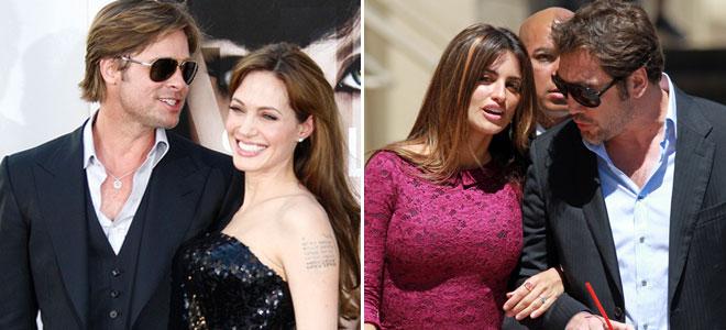 Penélope Cruz y Javier Bardem, junto a Brad Pitt y ¿Angelina Jolie?