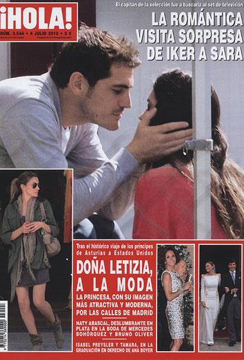 Sara Carbonero e Iker Casillas: el beso que no pudo esperar a la final