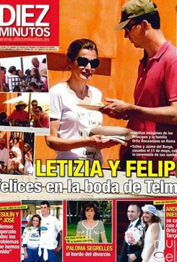 Letizia, muy feliz junto al Príncipe en la otra boda de su hermana Telma Ortiz