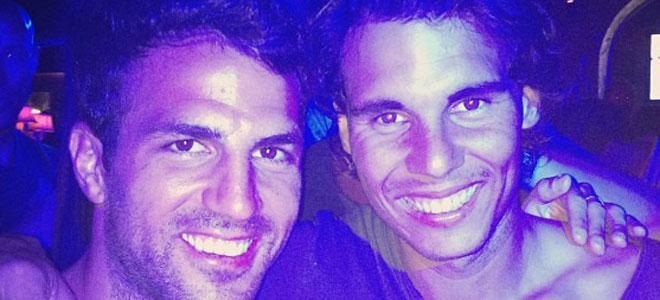 Nadal y Cesc Fabregas