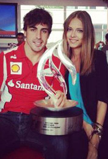 La novia de Fernando Alonso, Dasha Kapustina