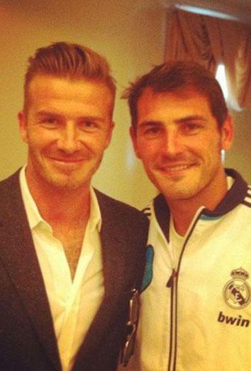 Iker Casillas y David Beckham