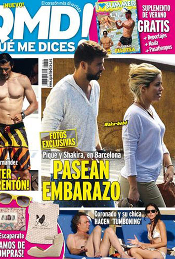 Shakira, embarazada. Nuevas imágenes de la novia de Gerard Piqué.