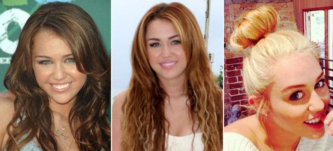 Miley Cyrus ahora es rubia platino. Los cambios de look de la ex Hanna Montana