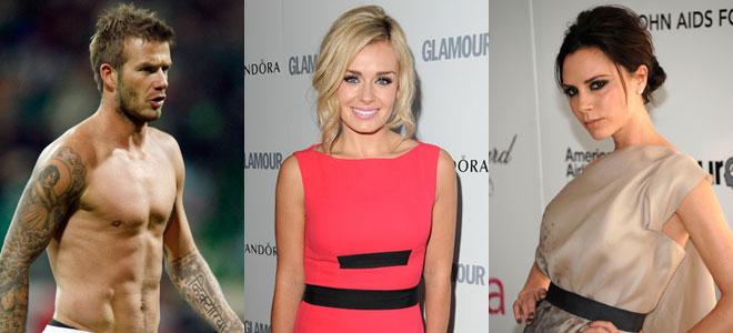 Victoria Beckha, David Beckham y su supuesta amante, Katherine Jenkins