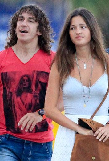 Puyol con su novia Malena