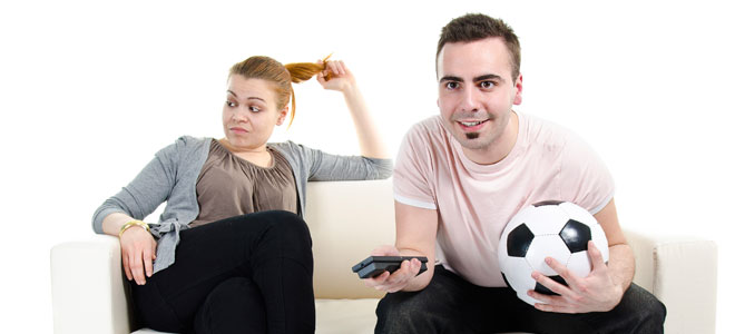 Preferencias masculinas: futbol o mujeres