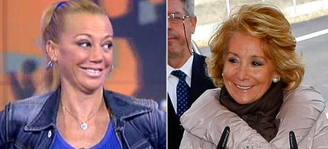 Esperanza Aguirre y Belén Esteban