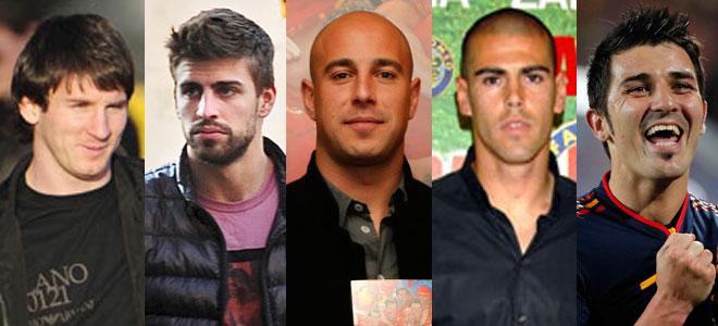 Messi, Piqué, Pepe Reina, Victor Valdés, Villa... todos ellos esperan un bebé