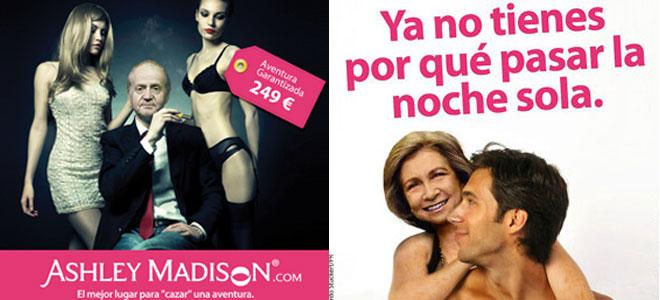 Los fotomontajes del Rey Juan Carlos infiel y de la Reina sofia cornuda