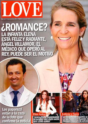 La Infanta Elena enamorada del doctor del Rey