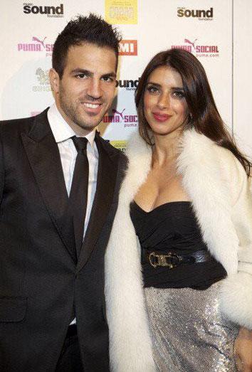 Cesc Fabregas y su novia Daniella Semaan