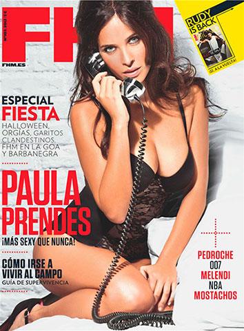 Paula Prendes muy sexy en la portada de FHM