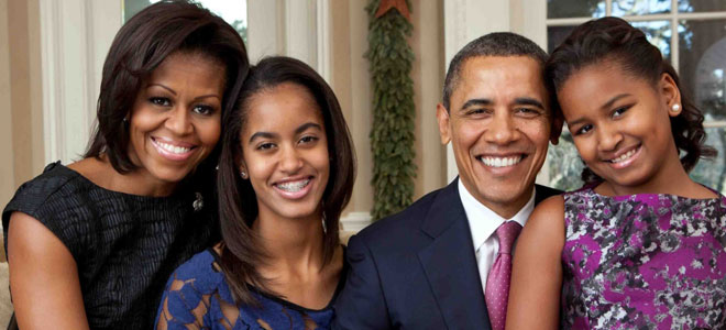 Las hijas de Obama, tan perfe