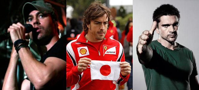 Fernando Alonso, Juanes y Enrique Iglesias, supersticiosos