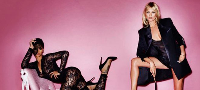 Rihanna y Kate Moss, polémicas fotos desnudas, lésbicas y sadomasoquistas