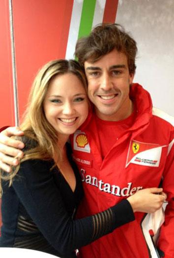 La novia de Fernando Alonso, Dasha Kapustina,. habla de su relación