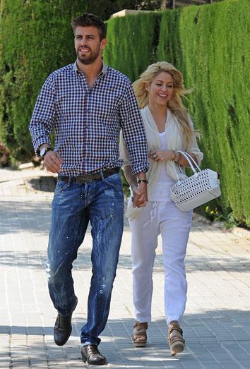 Shakira y Piqué, muy enamorados