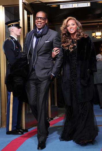 Beyoncé en la ceremonia de investidura de Obama
