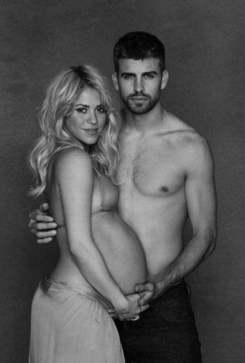 Shakira y Piqué, padres de Milan