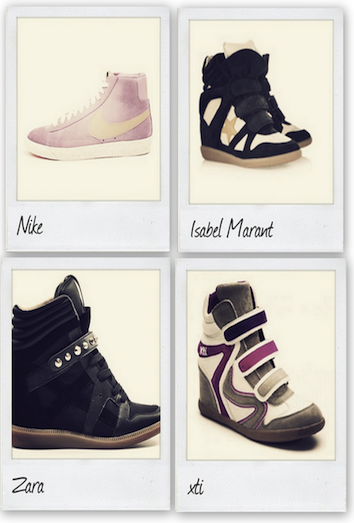 sneakers con cuña