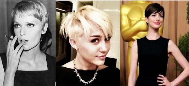Mia Farro, Miley Cyrus y Anne Hathaway