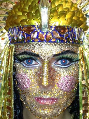 Detalle del maquillaje del disfraz de Cleopatra de Heidi Klum