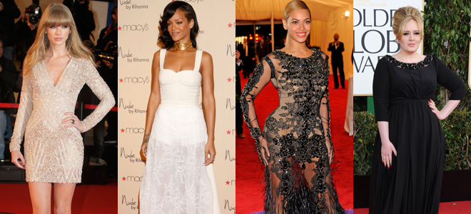 Taylor Swift, Rihanna, Beyonce y Adele, referentes en moda