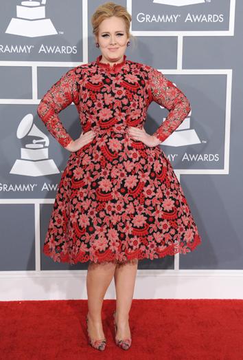 Adele, la peor vestida de los Grammy 2013