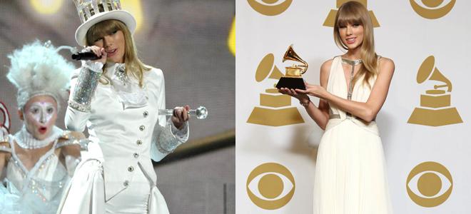 Taylor Swift, la reina del blanco en los grammy 2013