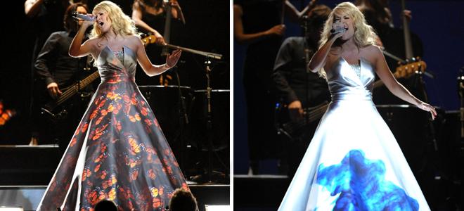 Carrie Underwood y su vestido cambiante de los Grammy 2013