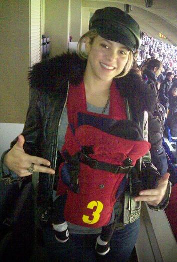 Shakira y Milan en el Camp Nou