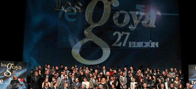 Polémica antes de la gala de los Goya 2013.