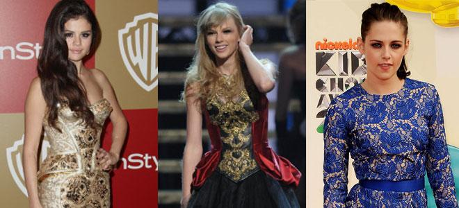 Selena Gomez, Taylor Swift y Kristen Stewart