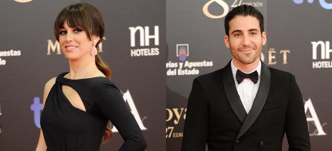 Blanca Suarez y Miguel Angel Silvestre en la gala de los Goya 2013