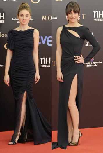 Blanca Suárez posa en los Goya 2013 luciendo pierna como Angelina Jolie