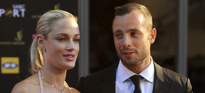 Reeva Steenkamp y su novio Oscar Pistorius