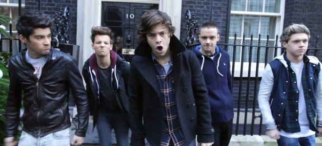Momento del videoclip de One Direction