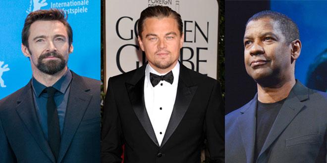 Hugh Jackman, Leonardo Di Caprio y Denzel Washington