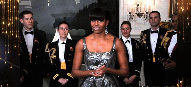 Michelle Obama en los Oscar 2013.