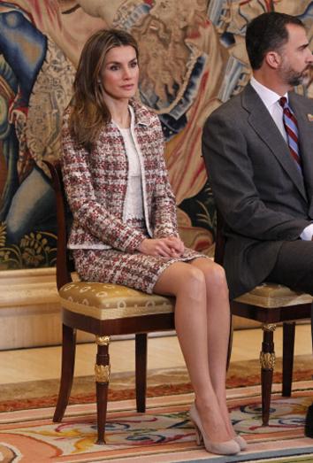 Letizia Ortiz y su traje de tweed