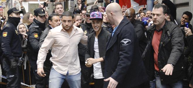 Justin Bieber antes de su concierto en Madrid