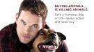 Kellan Lutz, protagonista de la campaña 'Adopta, no compres' de PETA