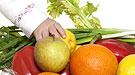 Frutas y vegetales bien lavados para los bebés