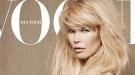 Claudia Schiffer, embarazada, se desnuda para Vogue