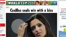 El beso de Iker Casillas a Sara Carbonero es portada de la prensa internacional