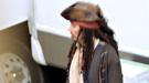 Johnny Depp se divierte sin Penélope Cruz en el rodaje de 'Piratas del Caribe 4' en Londres