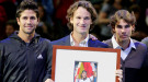 Rafa Nadal y Fernando Verdasco se emocionan en el homenaje a Carlos Moyà