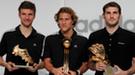 Iker Casillas y Diego Forlán, los más sexys del Mundial, reciben el Guante y el Balón de Oro
