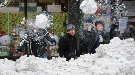 Nueva York se viste de blanco por Navidad a causa de una fuerte nevada